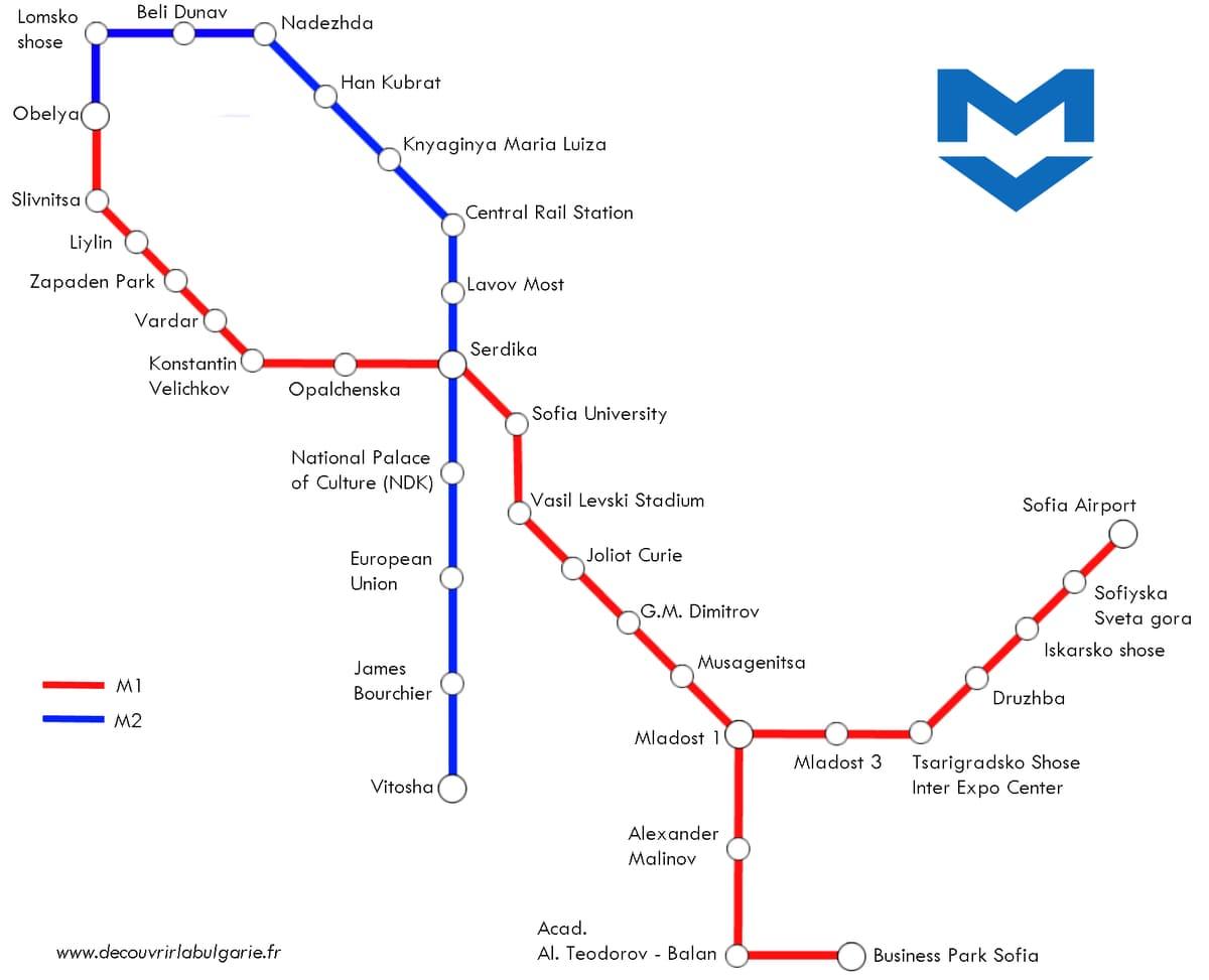 carte-plan-métro-sofia-bulgarie