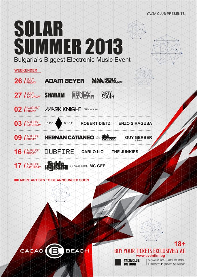 Cacao Beach Program 2013